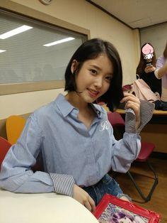 IU very beautiful 😍😍😍😘 Iu Short Hair, Iu Hair, Short Hair Styles, Korean Beauty, Asian Beauty, Iu Fashion, Ulzzang Girl, Korean Singer, Girl Crushes
