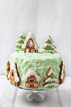 Csokoládétorta mézeskaláccsal recept Christmas Gingerbread House, Christmas Treats, Christmas Baking, Christmas Cookies, Cake Decorating Piping, Cookie Decorating, Winter Torte, Cake Recept, Christmas Cake Designs