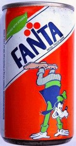 1980s Fanta Orange Can from South Africa