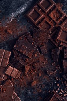 FOOD: Chocolate on Behance # Desserts photography FOOD: Chocolate Chocolate Tumblr, Café Chocolate, Chocolate Lovers, Chocolate Recipes, Bon Dessert, Paleo Dessert, Dessert Recipes, Food Styling, Food Photography Styling