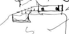 Architettura Mediterranea - Architettura rupestre - Villa Malaparte a Punta Masullo, Capri, Campania, Italia - Adalberto Libera Architetto - Penna biro su carta: schizzo studio di Francesco Saverio ALESSIO © copyright 1985