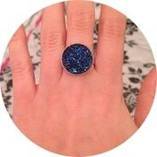 Browse all products in the Rings category from ☽ ShopMoonChild ☾. Crystal Ring, Druzy Ring, Crystals, Rings, Blue, Jewelry, Products, Jewlery, Bijoux