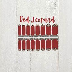 Holiday Nails / Nail Stickers/ Leopard Nails / Nail Polish Strips Holiday Nails, Christmas Nails, Christmas Nail Stickers, Leopard Nails, Cuticle Oil, Nail Polish Strips, Us Nails, Nail Wraps, Short Nails