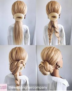Find your perfect pick of 2020 wedding hairstyles for long hair to stun, charm and enchant. The 72 beautiful hairstyle ideas that inspire are here! Hairdo Wedding, Wedding Hair And Makeup, Bridal Hair, Wedding Updo Tutorial, Wedding Hairstyles Tutorial, Bridal Gown, Hairstyle Ideas, Hair Places, Hair Up Styles