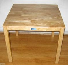Childrens Wooden Square Table