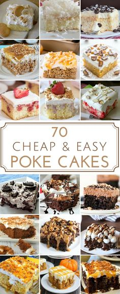 70 Cheap & Easy Poke Cake Recipes