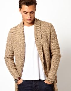 ASOS Cardigan In Textured Yarn on Wantering