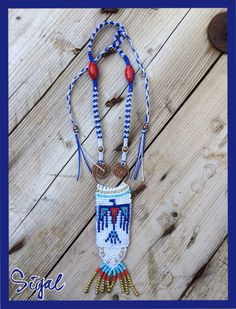#micro_macrame_necklace #hand_made_jewelry #micro_macrame_tribal_necklace