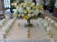 stunning wedding piece for the place card table