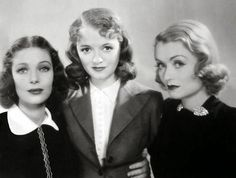 Loretta Young, Janet Gaynor and Constance Bennett for 'Ladies In Love' - 1936