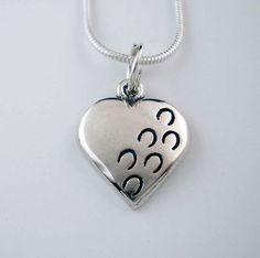 Hoof Prints on My Heart Pendant