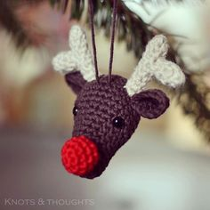 FREE Crochet Christmas Ornament Patterns Here you can find a beautiful collection of 25 crochet Christmas ornaments to decorate your Christmas tree.Here you can find a beautiful collection of 25 crochet Christmas ornaments to decorate your Christmas tree. Crochet Christmas Decorations, Crochet Christmas Ornaments, Christmas Crochet Patterns, Crochet Decoration, Holiday Crochet, Christmas Knitting, Crochet Snowflakes, Reindeer Ornaments, Red Nosed Reindeer