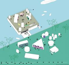 floating theatre - oistat competition 2015 - main axonometric diagram