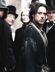 I love his Sherlock Holmes hair