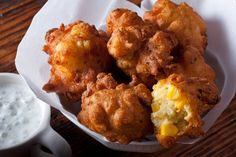 Crispy Corn Fritters.......I so miss Arby's corn fritters from when I was a kid :(  Maybe these can help