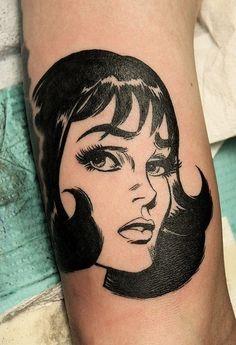 Lichtenstein style tattoo