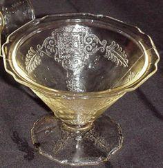 Pattern:   Roxana Depression Glass  Manufacturer:   Hazel Atlas Glass Company