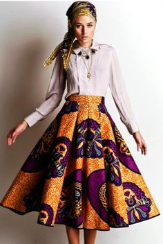 Stella Jean S/S 2012 African Inspired Collection. This skirt is gorgeous Estilo Fashion, Fashion Mode, Look Fashion, Womens Fashion, Fashion Design, Stella Fashion, Fashion Styles, Fashion Outfits, Stella Jean