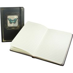 Turquoise Butterfly Punch Studio Large Bungee Journal