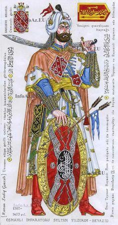 Osmanlı Sultan Yıldırım Bayâzid y. 1360-1403 AD - Yeniçerilerin Büyük Başı