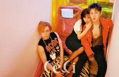 e'dawn, hyuna and hui //triple h Tripple H, Hyuna Triple H, Hyuna Kim, People Poses, E Dawn, Retro Aesthetic, Retro Futurism, Pentagon, K Idols