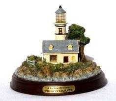 Thomas Kinkade The Light Of Peace Lighthouse Lighted