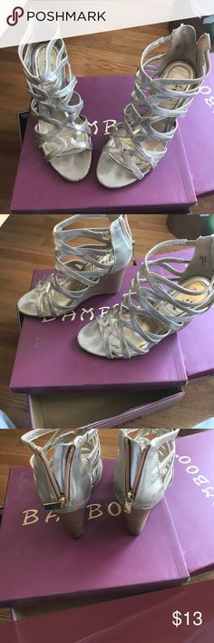 Bamboo Wedges Gold Strappy Wedges ! Shoes Wedges