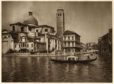 Grand Canal in Venice Italy Italia 1922 Kurt Hielscher Photogravure View