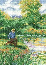 A Days Fishing Counted Cross Stitch Kit 14ct Aida