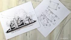 Les maisons métisses Adornetto Farmhouse Architecture, Modern Farmhouse Exterior, Lac Champlain, My Dream Home, How To Plan, Inspiration, Decor, Contemporary Home Design, New Homes