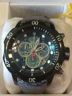 Invicta Reserve 52mm Subaqua Venom Swiss Made Quartz Chronograph Leather Strap. Model: 20411