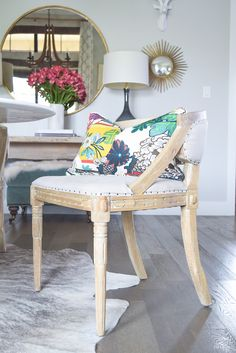 French Oval Back Cowhide Chair $350 | Cowhide Chairs + Cowhide Bar ...