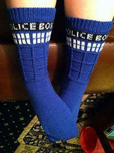 DIY TARDIS Socks | 27 Rad Pairs Of Socks To Keep Your Feet Cozy