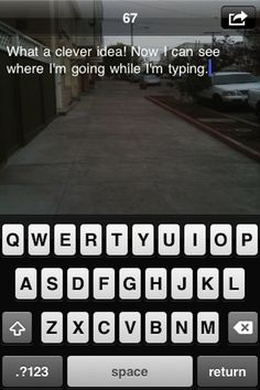 Your phone could make it easy to type and walk at the same time. | 19 Genius Improvements To Everyday Products