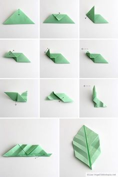 Origami leaves; by Dekotopia                                                                                                                                                                                 Mehr