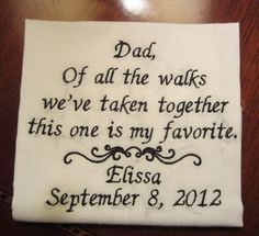 Father of the Bride Personalized Embroidered by Medfordart on Etsy