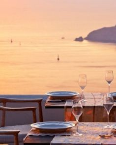 A small restaurant offers just four intimate tables; an ideal spot to be at sunset. #Jetsetter #JSSunrise