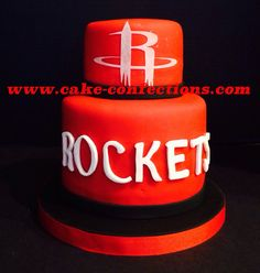 Last year my husbands Houston Rockets birthday cake Party Ideas