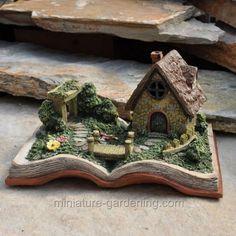 Miniature fairy gardens 649573946225830183 - Fairy Village Storybook with Lights for Miniature Garden, Fairy Garden Source by Village Miniature, Miniature Houses, Miniature Fairy Gardens, Winter Greenhouse, Fairy Village, Fairy Garden Houses, Fairy Gardening, Organic Gardening, Fairies Garden