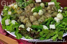Sabe qual é a saladinha que temos no #almoço? É esta deliciosa e nutritiva Salada de Batata Doce com Pesto de Manjericão!  #Receita aqui: http://www.gulosoesaudavel.com.br/2013/07/31/salada-batata-doce-pesto-manjericao/