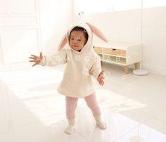 Bunny ears Hooded Fleece Sweatshirt for Girls & by AngAngBabyUS