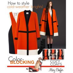 """How to style cold-weather brights"" by mcheffer on Polyvore"