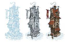 Building Concept 1, Tom Egan on ArtStation at…
