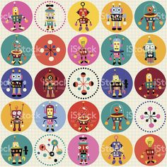 robots pattern royalty-free stock vector art Robots Drawing, Maths Solutions, Retro Robot, Free Vector Art, Different Patterns, Pattern Wallpaper, Funny Stickers, Cards, Grade 3