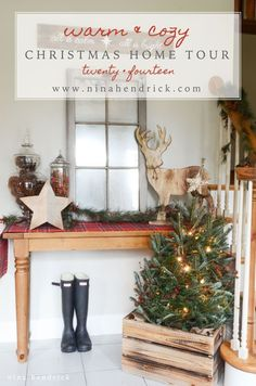 christmas home tour 2014 - Vintage Christmas Home Decor