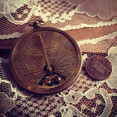 1 pc Vintage Style Nautical Sundial Pocket Watch Pendant Charm REALLY WORKS Nautical Antique Brass Bronze. $7.99, via Etsy.