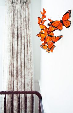"""Monarch garland...would """"flutter"""" if placed near a vent."""