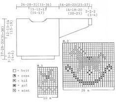 """BabyDROPS 3-18 - DROPS jumper with rocking horse motif in """"Muskat"""". - Free pattern by DROPS Design"""