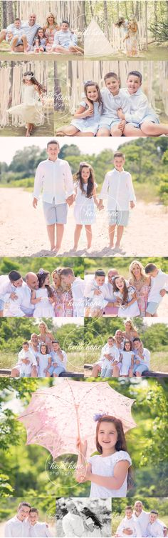 Coordinating for pictures. Family. Beach/outdoors. Bright, clean, fresh.
