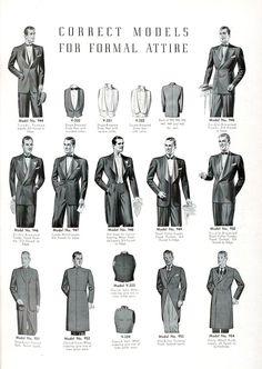Correct models for formal attire. #vintage #menswear #1940s